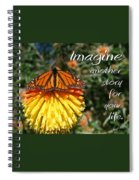 Torch Lily And Monarch Spiral Notebook