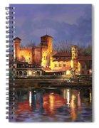 Torino-il Borgo Medioevale Di Notte Spiral Notebook