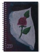 Torn Canvas Rose Spiral Notebook