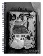 Torn Posters Rome Italy Spiral Notebook