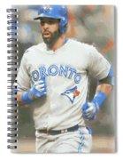 Toronto Blue Jays Jose Bautista Spiral Notebook