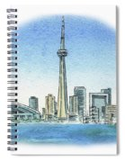 Toronto Canada City Skyline Spiral Notebook