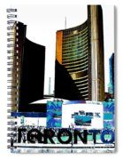 Toronto City Hall Graphic Poster Spiral Notebook