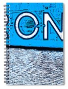 Toronto In The Rain Poster In Blue Spiral Notebook