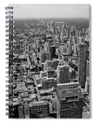Toronto Ontario Scrapers In Black And White Spiral Notebook