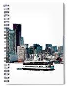 Toronto Portlands Skyline With Island Ferry Spiral Notebook