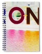 Toronto Sign In Muted Colours Spiral Notebook