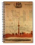 Toronto Skyline 36 Spiral Notebook