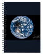 Total Solar Eclipse Casting Shadow Spiral Notebook
