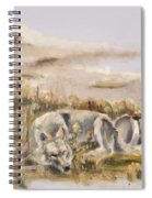Totem Wolf Sunset Spiral Notebook