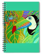 Toucan And Red Eyed Tree Frog Spiral Notebook