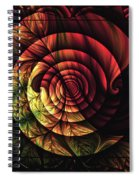 Touch Of Sunshine Abstract Spiral Notebook