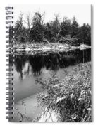 Touch Of Winter Black And White Spiral Notebook