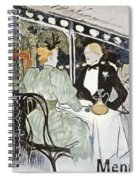 Toulouse-lautrec: Menu Spiral Notebook