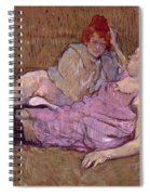 Toulouse Lautrec The Sofa Spiral Notebook