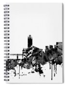 Toulouse Skyline-black Spiral Notebook