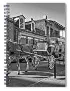 Touring The French Quarter Monochrome Spiral Notebook
