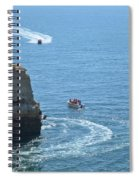 Tourist Boats And Cliffs In Algarve Spiral Notebook