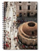 Tourists At Dubrovnik's Onofrio's Fountain Spiral Notebook