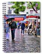 Tourists - Paris - Place Du Tertre Spiral Notebook