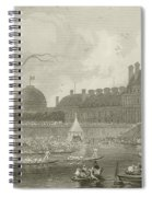 Tournay On The Seine During The July Fetes Spiral Notebook