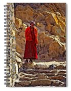 Towards Nirvana Impasto Spiral Notebook