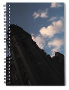 Tower And Clouds Spiral Notebook