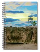 Tower And Rocks Spiral Notebook