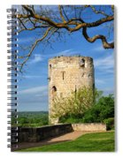 Tower At Chateau De Chinon Spiral Notebook