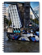 Tower Bridge And Boat Spiral Notebook