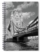 Tower Bridge Vertical Black And White Spiral Notebook