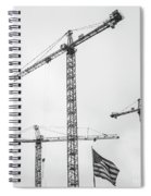 Tower Cranes Bw Construction Art Spiral Notebook