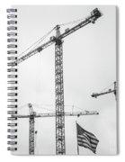 Tower Cranes Bw Construction Art Spiral Notebook