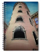 Tower In Lyon France Traboules Spiral Notebook