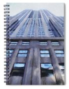 Tower Of Steel And Stone Spiral Notebook