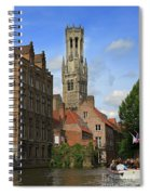 Tower Of The Belfrey From The Canal At Rozenhoedkaai Spiral Notebook