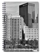 Tower Over Pittsburgh In Black And White Spiral Notebook