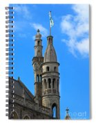 Towers Of The Town Hall In Bruges Belgium Spiral Notebook