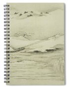 Towing A Barge In The Snow Spiral Notebook