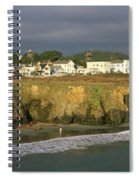 Town At The Seaside, Mendocino Spiral Notebook