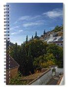Town In A Valley, Sacromonte, Granada Spiral Notebook