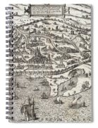 Town Map Of Alexandria In Egypt Spiral Notebook