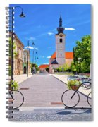 Town Of Bicycles Koprivnica Street View Spiral Notebook