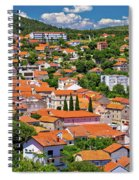 Town Of Drnis And Dalmatian Inland Panorama Spiral Notebook
