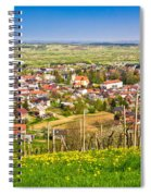 Town Of Ivanec Aerial Springtime View Spiral Notebook