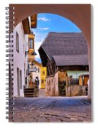 Town Of Kastelruth In Alps Street View Spiral Notebook