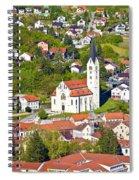 Town Of Krapina Church Vertical View Spiral Notebook