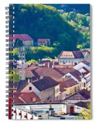 Town Of Krapina Rooftops View Spiral Notebook