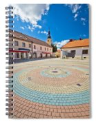 Town Of Ludbreg Square Vertical View Spiral Notebook