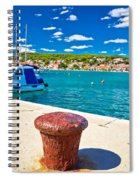 Town Of Tisno Harbor And Waterfront Spiral Notebook